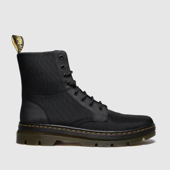 Dr Martens Black Combs 8 Eye Mens Boots#