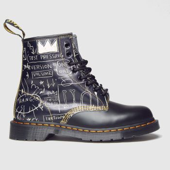 Dr Martens Black 1460 8 Eye Basquiat Mens Boots#