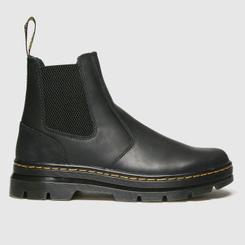 Dr Martens Black 2976 Tract Chelsea Mens Boots