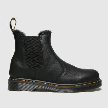 Dr Martens Black 2976 Fur Lined Chelsea Mens Boots