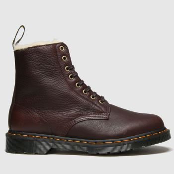 Dr Martens Brown 1460 Pascal Fur Lined Mens Boots