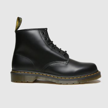 Dr Martens Black 101 Yellow Stitch Mens Boots