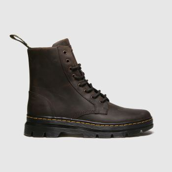 Dr Martens Brown Combs Leather Boot Mens Boots