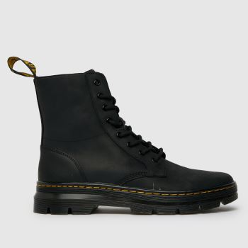 Dr Martens Black Combs Leather Boot Mens Boots