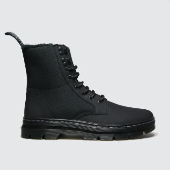 Dr Martens Black Combs Ii Fur Lined Mens Boots