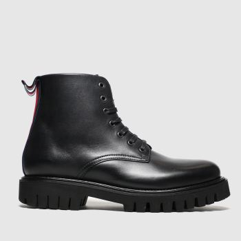 Tommy Hilfiger Black Chunky Dress Boot Mens Boots