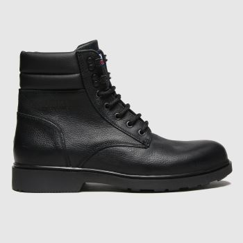 Tommy Hilfiger Black Padded Ankle Mens Boots