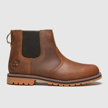 Timberland Tan Larchmont Ii Chelsea Mens Boots#