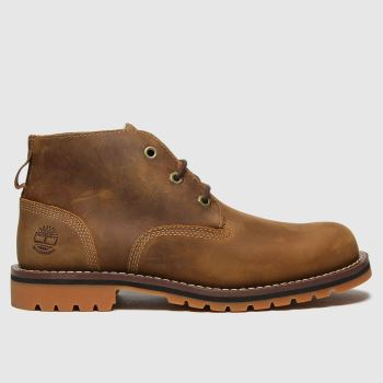 Timberland Brown Larchmont Ii 3 Eye Chukka Mens Boots#
