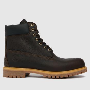 Timberland Dark Brown Timb 6 In Premium Mens Boots