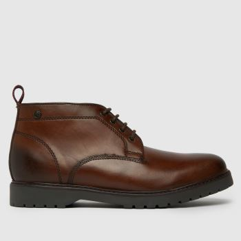 Base London Brown Base Rivet Mens Boots