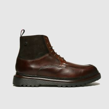 Base London Dark Brown Drummond Mens Boots