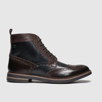 Base London Brown & Navy Banner Mens Boots