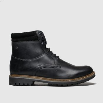 Base London Schwarz Hide Herren Boots