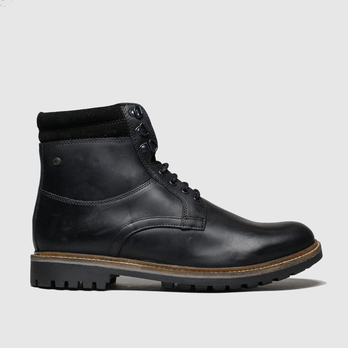 Base London Black Hide Boots