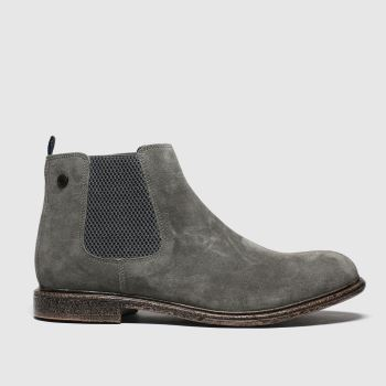 Base London Grey Flint Mens Boots