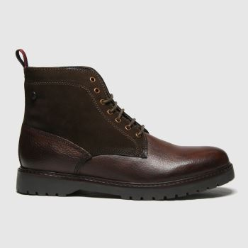 Base London Dark Brown Forge Mens Boots
