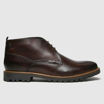 base london Dark Brown Brady Mens Boots