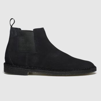 CLARKS ORIGINALS Black Desert Chelsea Mens Boots