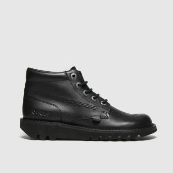 KicKers Black Kick Hi Mono Mens Boots