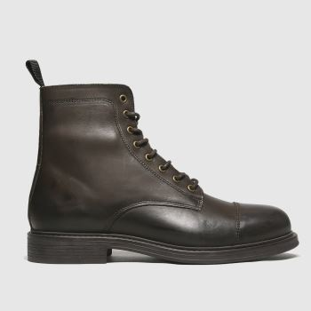 schuh Brown Broseph Lace Up Mens Boots