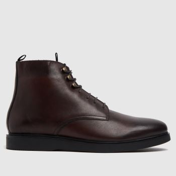 H BY HUDSON Brown Battle Mens Boots
