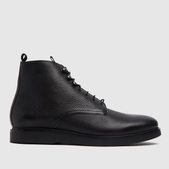 H BY HUDSON Black Battle Mens Boots