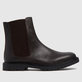 H BY HUDSON Brown Brahms Chelsea Mens Boots