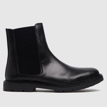 H BY HUDSON Black Brahms Chelsea Mens Boots