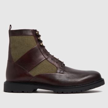 H BY HUDSON Brown Lars Mens Boots