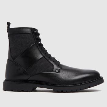 H BY HUDSON Black Lars Mens Boots