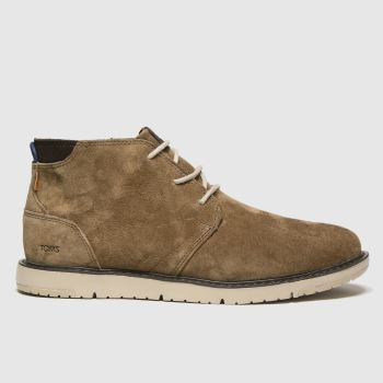 TOMS Dark Brown Navi Mens Boots#