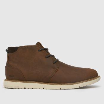 TOMS Brown Navi Mens Boots