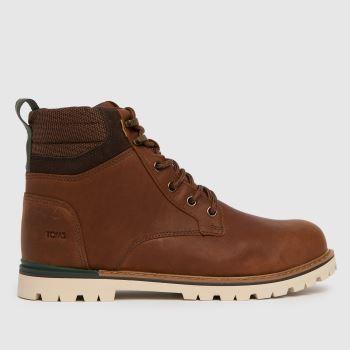 TOMS Brown Ashland Waterproof Mens Boots