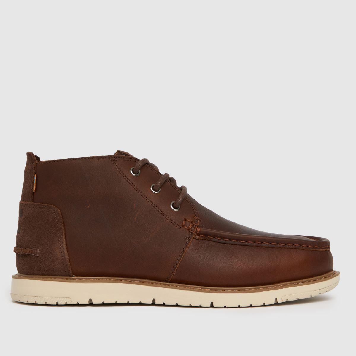 TOMS Dark Brown Navi Chukka Boots