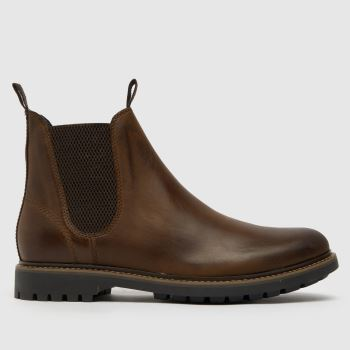schuh Brown Dylan Leather Chelsea Mens Boots