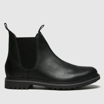 schuh Black Dylan Leather Chelsea Mens Boots