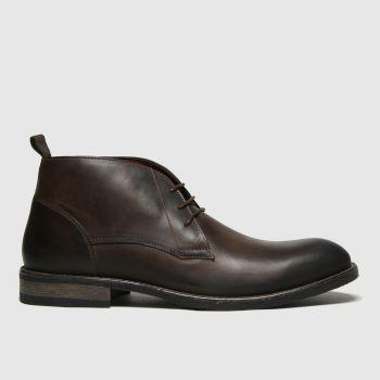 schuh Brown Greyson Chukka Mens Boots
