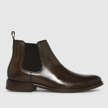 schuh Brown Damien Leather Chelsea Mens Boots