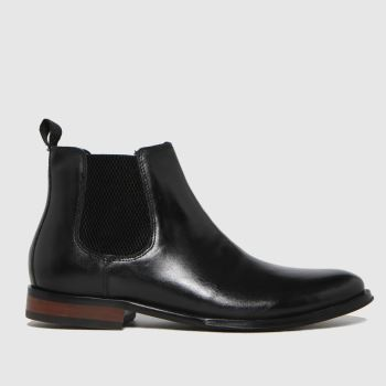 schuh Black Damien Leather Chelsea Mens Boots