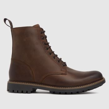 schuh Brown Carter Lace Up Mens Boots