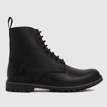 schuh Black Carter Lace Up Mens Boots