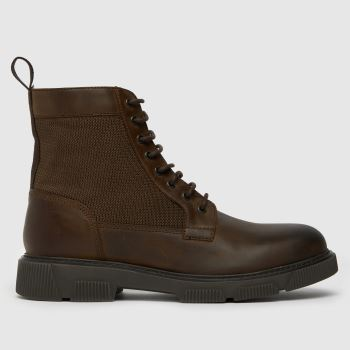 schuh Brown Connor Lace Up Boot Mens Boots