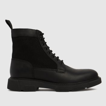 schuh Black Connor Lace Up Mens Boots