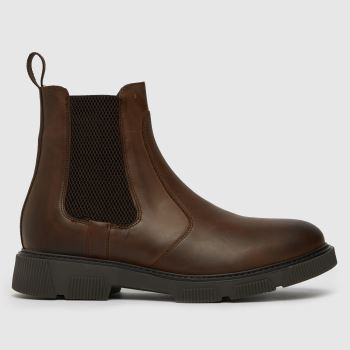 schuh Brown Dom Leather Chelsea Boot Mens Boots