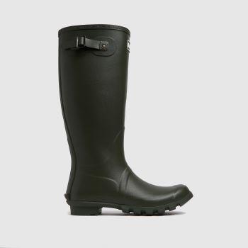 Barbour Dark Green Bede Wellington Mens Boots