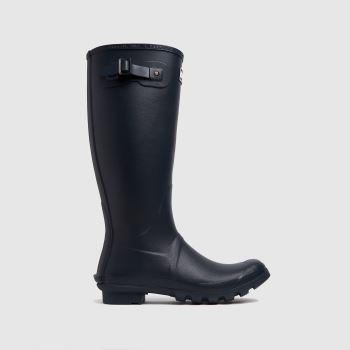 Barbour Navy Bede Wellington Mens Boots