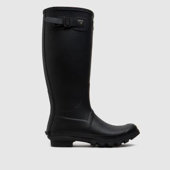 Barbour Schwarz Bede Wellington Herren Boots