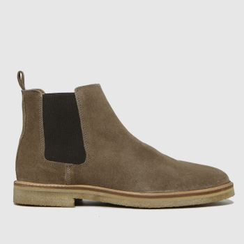 schuh Natural Owen Suede Chunky Chelsea Mens Boots