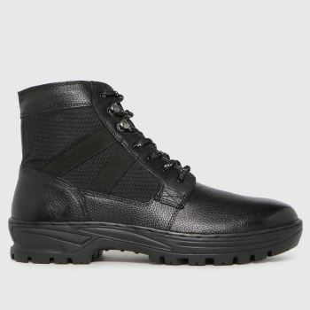 schuh Black Chase Leather Hiker Mens Boots